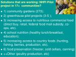 solutions that are working nhfi pilot project in 17 communities