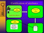 certification of attributes