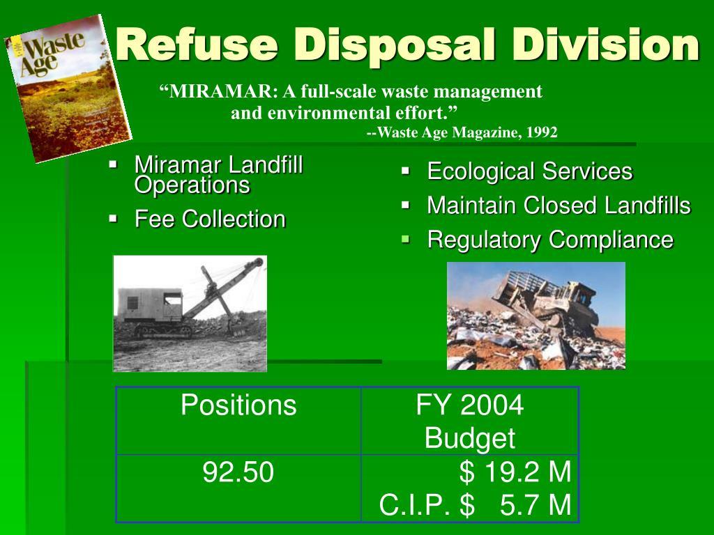 Miramar Landfill Operations
