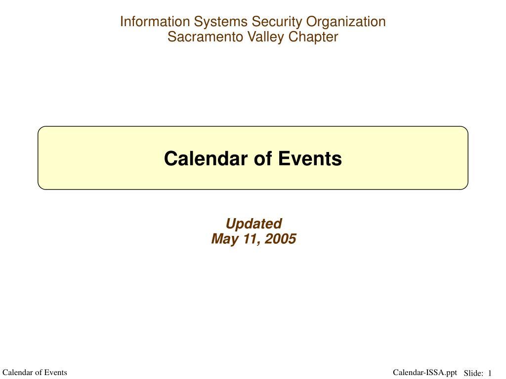 calendar of events l.