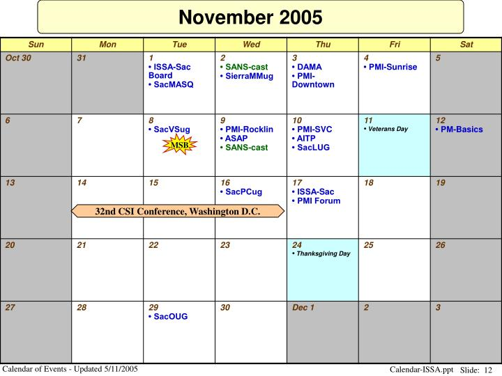 Ppt Calendar Of Events Powerpoint Presentation Id 1323149