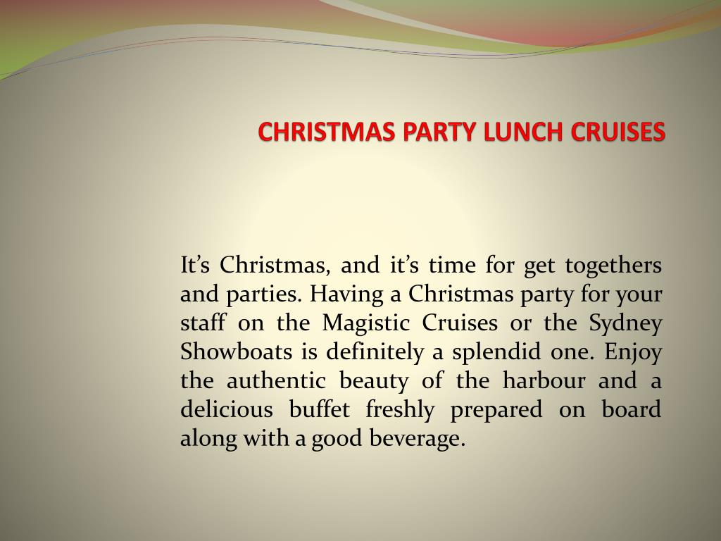 christmas party lunch cruises l.