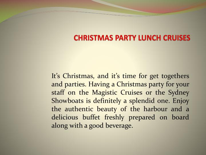 Christmas party lunch cruises