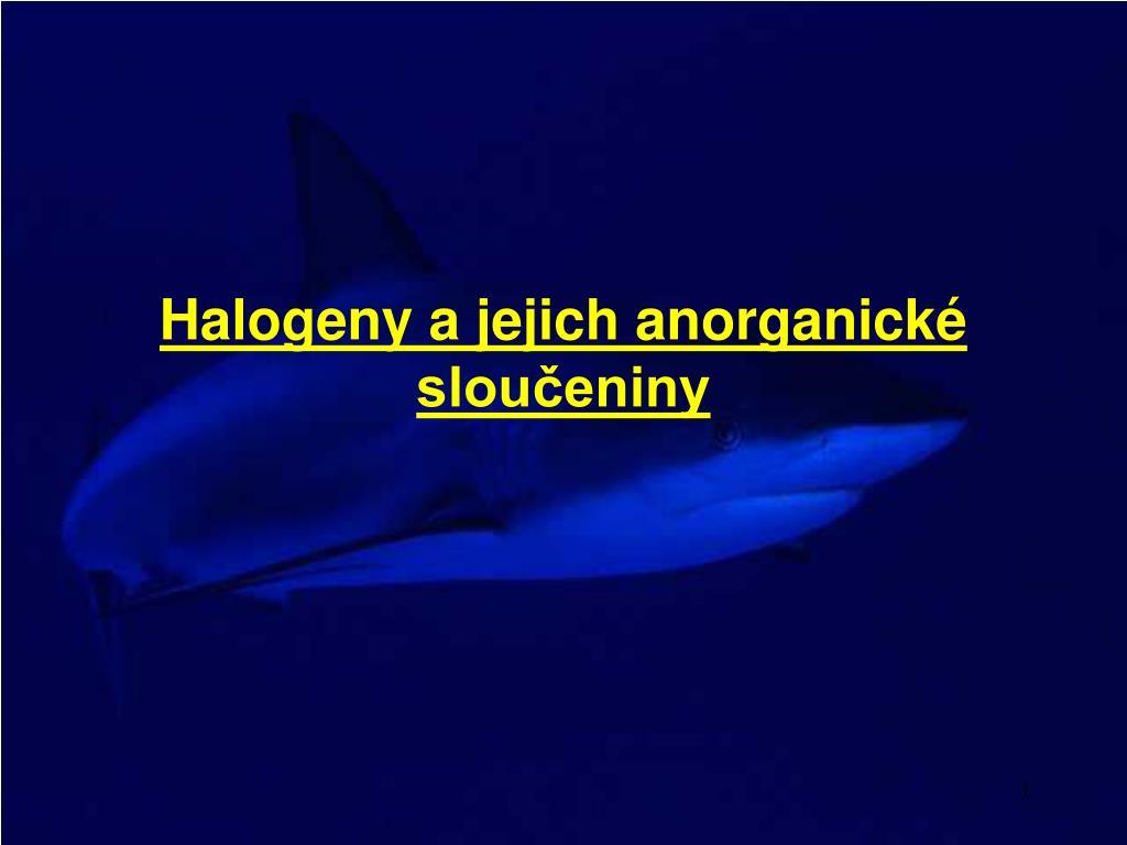 halogeny a jejich anorganick slou eniny l.