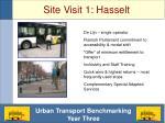 site visit 1 hasselt