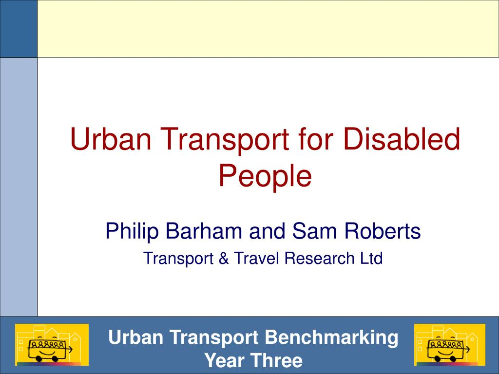 urban transport for disabled people l.