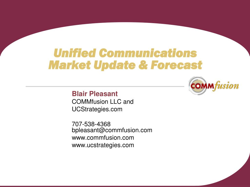unified communications market update forecast l.