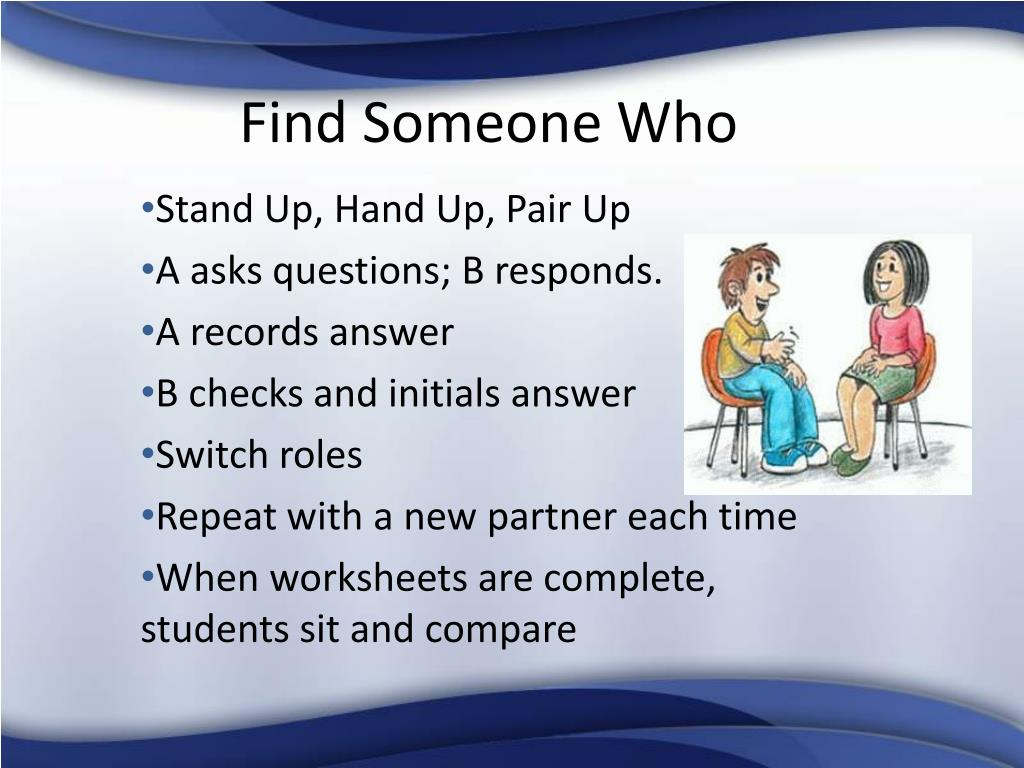 find someone who l.