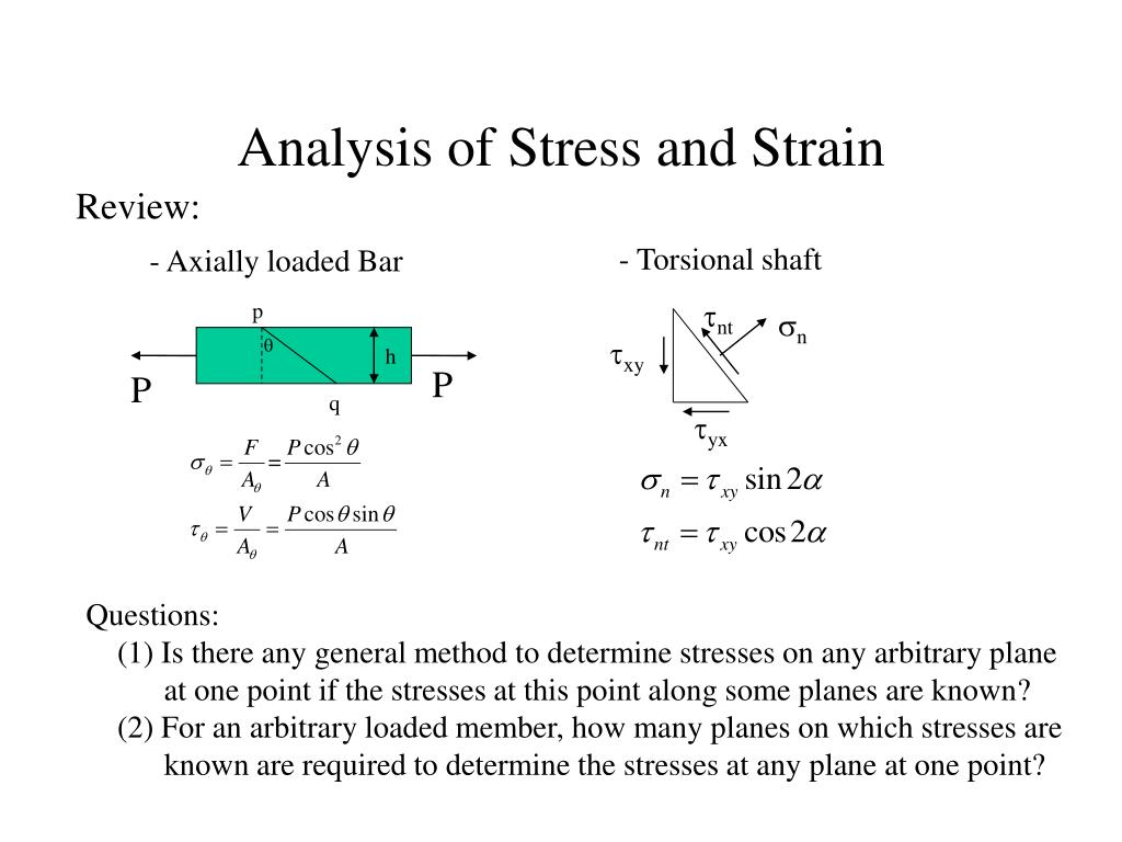 analysis of stress and strain l.