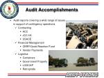 audit accomplishments