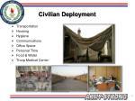 civilian deployment