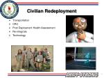 civilian redeployment