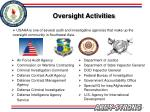 oversight activities