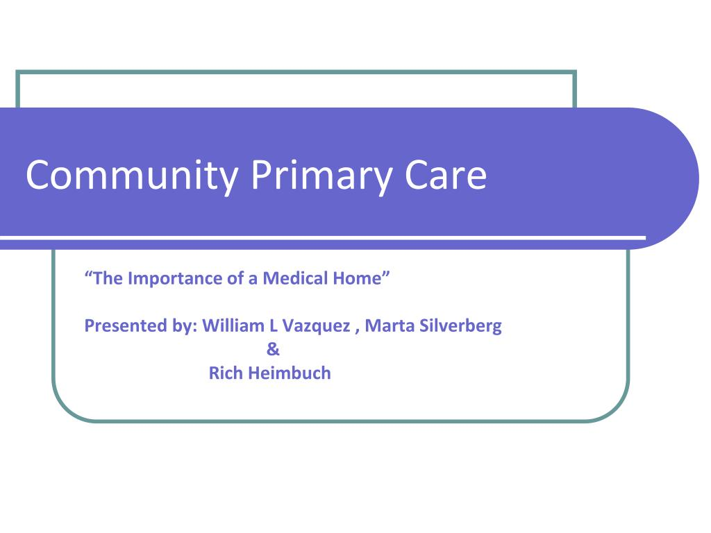 community primary care l.