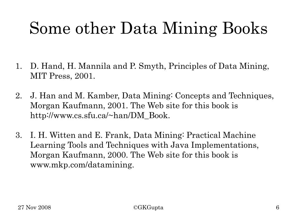 Some other Data Mining Books