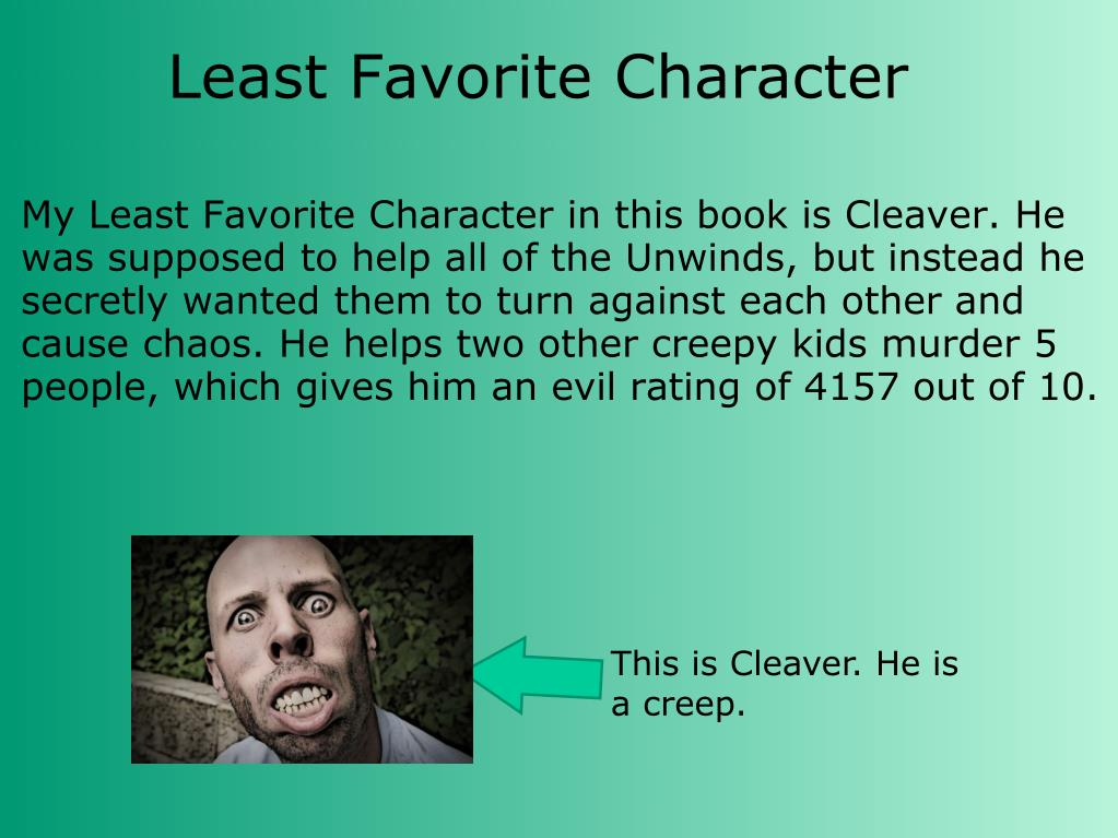 Least Favorite Character