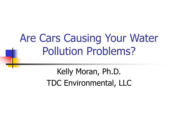 are cars causing your water pollution problems n.