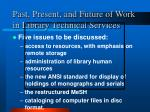 past present and future of work in library technical services