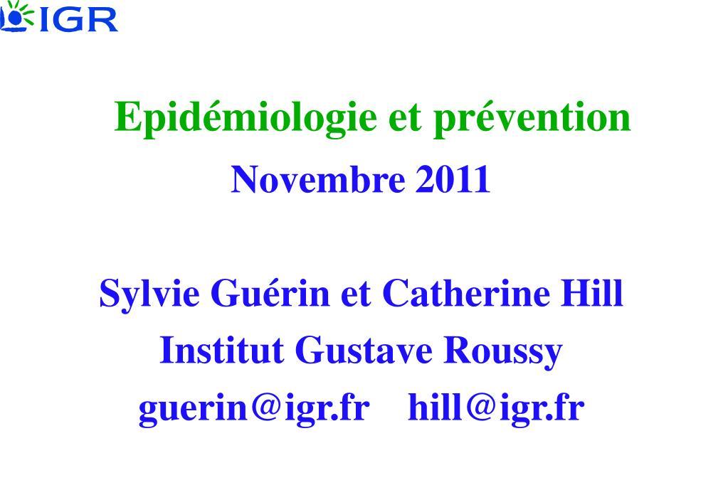 epid miologie et pr vention l.