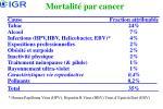 mortalit par cancer