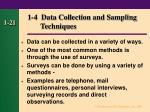 1 4 data collection and sampling techniques