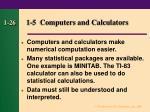 1 5 computers and calculators