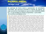 balance social arraigo local