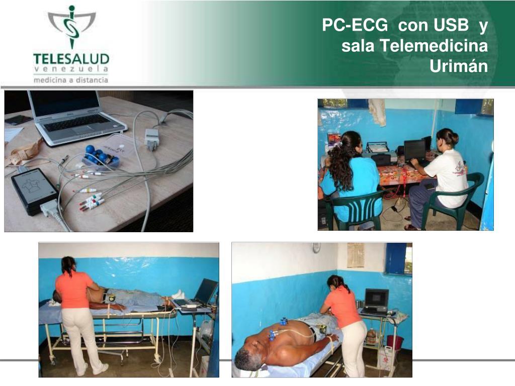 PC-ECG  con USB  y sala Telemedicina Urim
