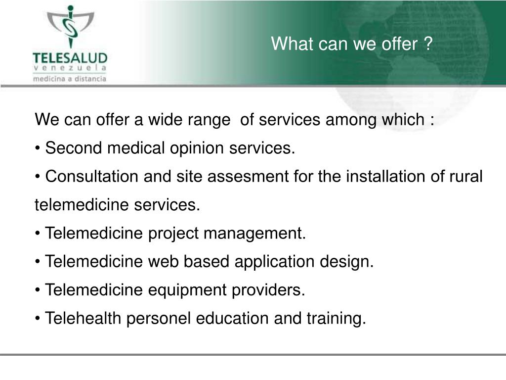 What can we offer ?
