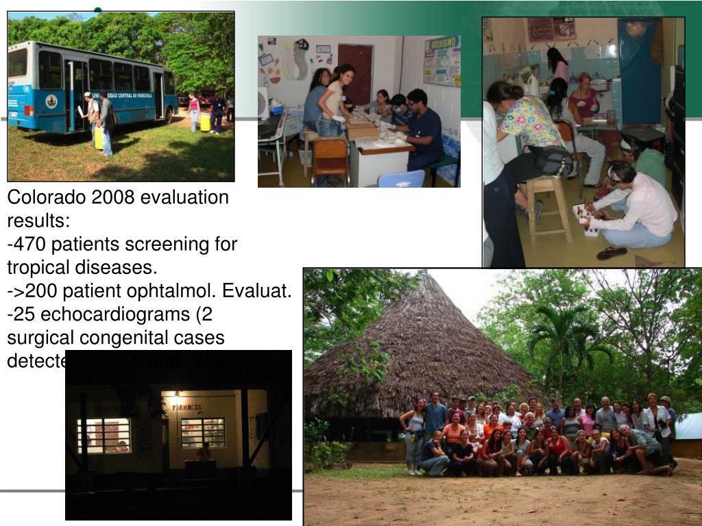 Colorado 2008 evaluation results: