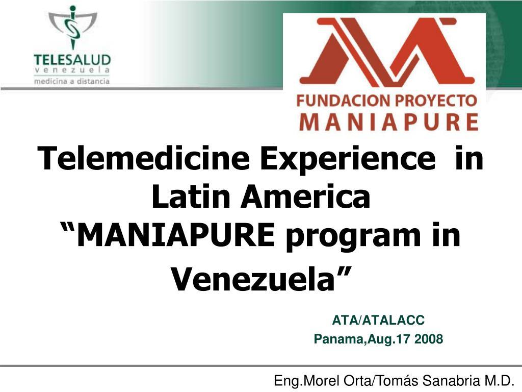 Telemedicine Experience  in Latin America