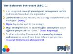 the balanced scorecard bsc