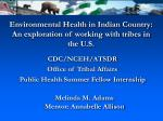 environmental health in indian country an exploration of working with tribes in the u s