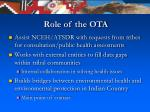 role of the ota