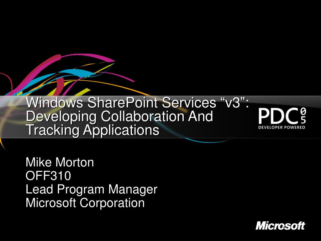 windows sharepoint services v3 developing collaboration and tracking applications l.