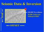 seismic data inversion