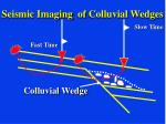 seismic imaging of colluvial wedges25
