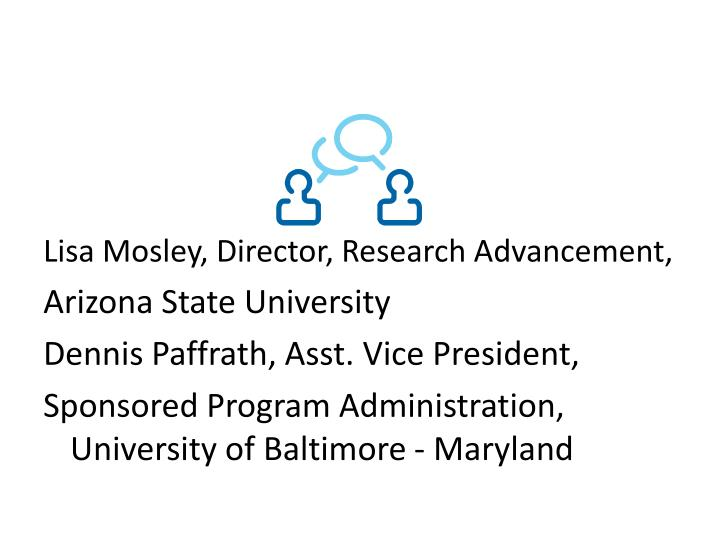 Lisa Mosley, Director, Research Advancement,