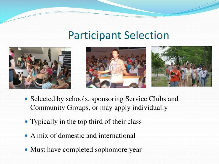 Participant Selection