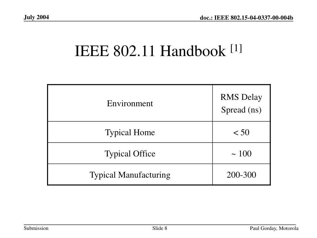 IEEE 802.11 Handbook
