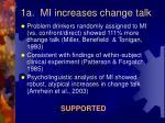 1a mi increases change talk