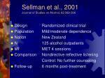 sellman et al 2001 journal of studies on alcohol 62 389 396