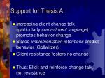support for thesis a