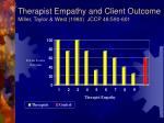 therapist empathy and client outcome miller taylor west 1980 jccp 48 590 601