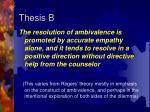 thesis b