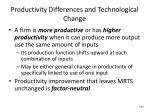 productivity differences and technological change