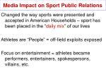 media impact on sport public relations