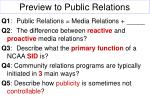 preview to public relations