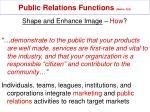 public relations functions mullin 32415
