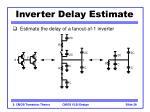 inverter delay estimate39